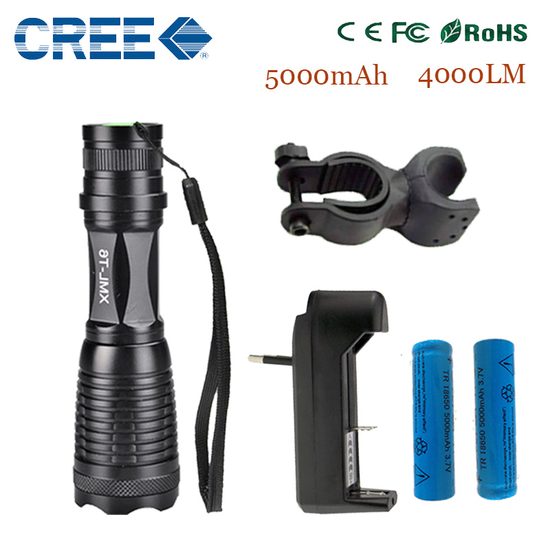 zk10 LED torch LED Flashlight e17 CREE XM-L T6 4000 Lumens High Power Focus Zoomable LED Cycling Bike Bicycle Front Head Light<br><br>Aliexpress