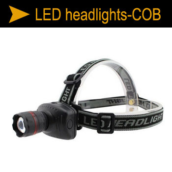 LED 3W High-power LED strong light headlights third gear telescopic pitch Camping lights without battery ZM00980(China (Mainland))