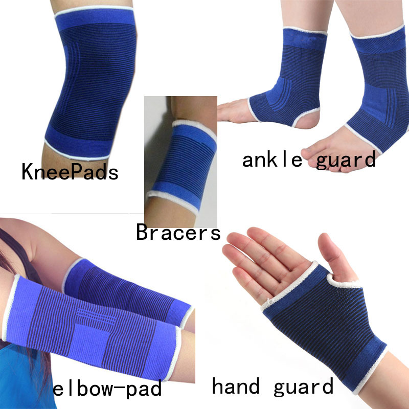2015 New Free Shipping 1 Pair The Wicketkeeper Sports Kneepad Football Volleyball Knee Pads Elbow Pad Ankle Hand Guard Bracer(China (Mainland))