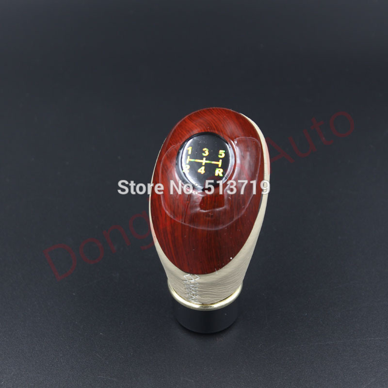 Free shipping New arrival Universal Beige Manual Gear Shift Knob Shifter Lever Knob For 5-Speed Car Auto 2colour black Cream(China (Mainland))