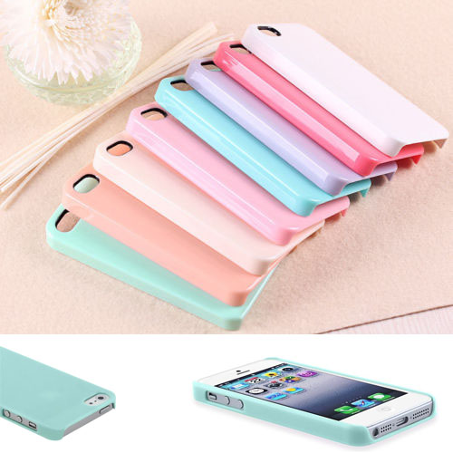 Free Shipping 1 pcs Pastel Cute TPU Candy Color Hard Case Cover Skin For Apple Iphone 5 5s 5G Wholesale High Quality(China (Mainland))