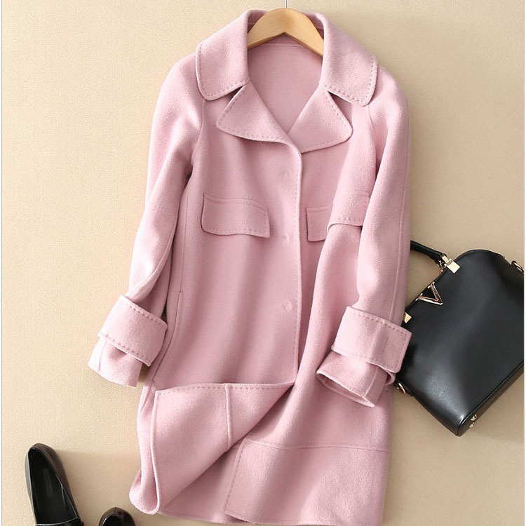 Pink Wool Coats For Women