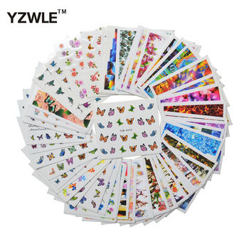 WUF 48 Sheets New Arrivals DIY Decals Nails Art Water Transfer Printing Stickers For Nails Salon