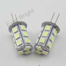 100Pieces/ot Led G4 5050 18 SMD 18 Led Home Reading Warm White Cool White DC 12V RV Marine Boat Camper Light Bulb Lamps(China (Mainland))