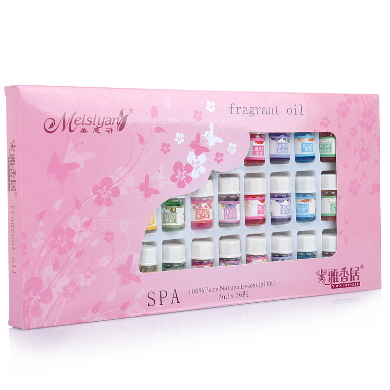 Skin Care Aromatherapy Essential Oil 12 Kind 3ML Fragrance Aromatherapy Oil Natural Spa Oil Pack 36pcs