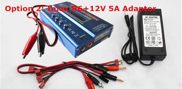 IMax B6 B6AC Digital LCD Lipo NiMh 2s - 6s battery Balance Charger + adapter(option 2)