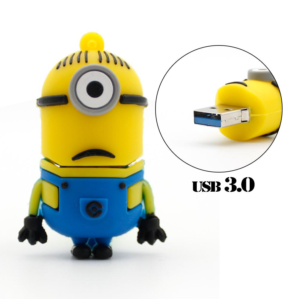 Stuart Minion USB 3.0 USB Flash Drive High Running Speed Minions Model Pen Drive 16G 32G 64G Pendrive(China (Mainland))