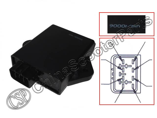 UNLIMITED 8 Pins CDI 9000 RPM VOG YP 250 257 260 275 300 Linhai Xingyue Gsmoon ATV Quad Buggy BUYANG FEISHEN FA-D300 H300 300cc(China (Mainland))