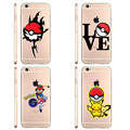 Pokemons Poke Ball Phone Cases Pokemons Go Pokeball Transparent Clear Soft silicone TPU Case Cover For