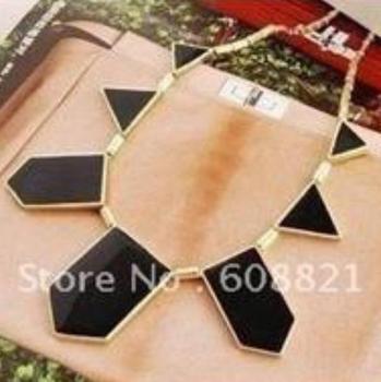 N002 Big Star style Hilton Love black geometric irregular statement necklace choker necklace collar necklace fashion B2.65