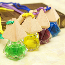 New Arrival Diamond-Shaped Glass Car Perfume Ornaments Automotive Supply Peach Flavor Scent Romantic(China (Mainland))