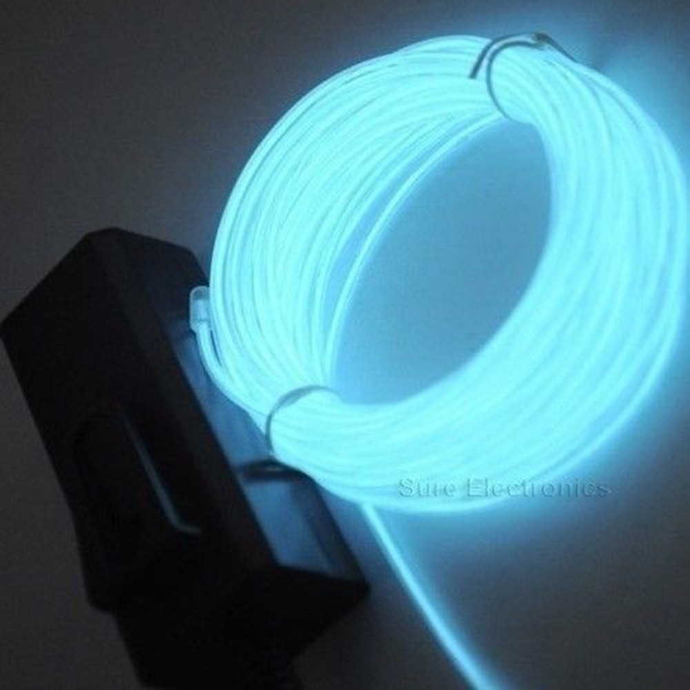 1pcs Hot Worldwied 3m Flexible EL Wire Rope Neon Light Glow With Controller For Party Dance Car Decor Blue Color(China (Mainland))