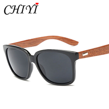 CHIYI Sports Fishing Eyewear Male Handicraft Natural Wood Sun Glasses Vintage Oversized Frame Bamboo Sunglasses Women New CY124