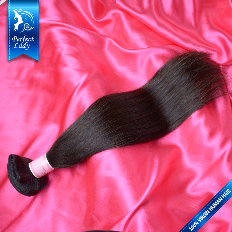 Perfect Lady indian straight hair 1pc cheap human hair weave sale wholesale unprocessed virgin indian hair straight(China (Mainland))