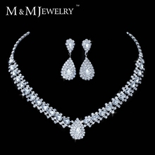 New Design Free Shipping Teardrop Wheat Imitated Gemstone Crystal Wedding Bridal Jewelry Sets including Necklace Earrings TL001(China (Mainland))