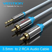 Конвенция 3,5 мм до 2 RCA аудио кабель 2 м