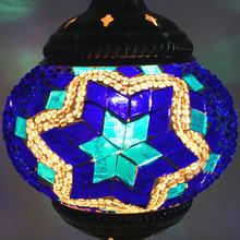 Юго-Восточная Азия, богемная мозаика, Турецкая Подвесная лампа E27, лампа ручной работы, стекло, бра, Марокко, кофе, ресторан, подвесной светил...(China)
