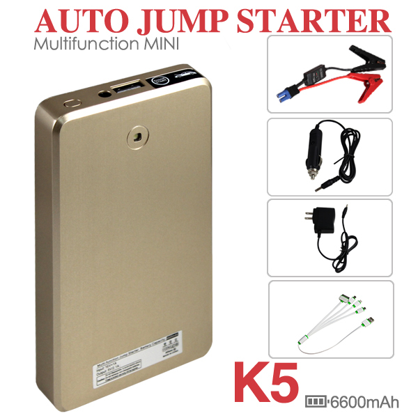66000mah Multi-function 2016 Car Jump Starter Mobile Power Bank Battery Charger with LED Light Only for Gasoline Vehicle(China (Mainland))