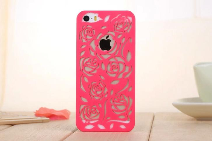 2015 Real Rushed New Design Arrival Fashion Rose Tpu Cover For Apple For Iphone 5 5s Soft Gel Back Case For Iphone5 Iphone5s(China (Mainland))
