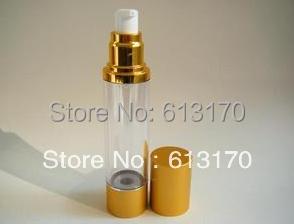 50ml vacuum airless bottle lotion pump bottle spray bottle serum bottles asian gold color<br><br>Aliexpress