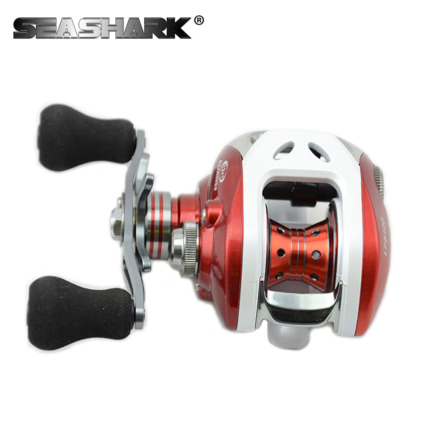 12+1BB Saltwater Wheel Red Color Left and Right Hand Bait Casting Fishing Reel Bait cast Reel Sea Bait casting Fishing Reel(China (Mainland))