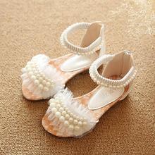 2016 new children sandals girls sandals summer fashion kids sandlas cute pearl design princess shoes girls shoes(China (Mainland))
