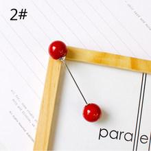 Di modo 1PC Donna Ragazza Imitazione Pearl Spilla Fascino Classico Accessori di Alta Qualità Semplice Doppio Perle Spille Del Tutto-Fiammifero(China)