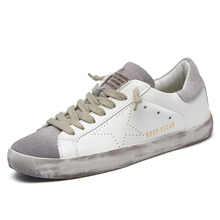 New Brand Designer 2017 Italy Golden Genuine leather Casual Men Trainers Goose All Sport Star Breathe Shoes Footwear Zapatillas(China (Mainland))