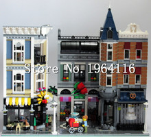 LEPIN 15019 Ideas series the Assembly Square model Building Blocks set compatible 10255 house Architecture toy for children(China (Mainland))