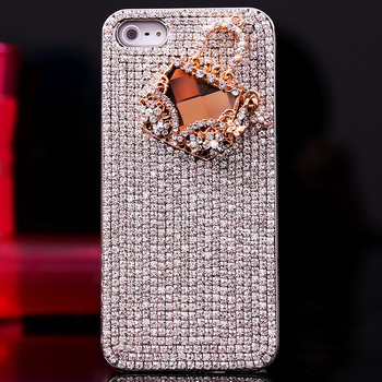 Bags iphone4 iphone5 s phone case mobile phone protective case rhinestone  for apple   4 shell