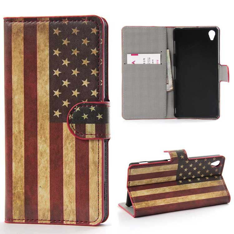 luxury Flip stand bag wallet mobile phone bag protector screen For Sony-Ericsson Xperia T3 cell phone cases+cover(China (Mainland))