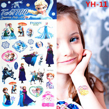 Froze Elsa Anna Temporary Tattoo Stickers Kids Waterproof Princess Stickers Tatoo For Children prince FREE SHIPPING