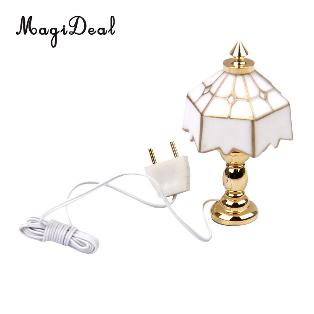 MagiDeal Dollhouse Rose Shape Electric Lighting LED Wall Desk Lamp Decor