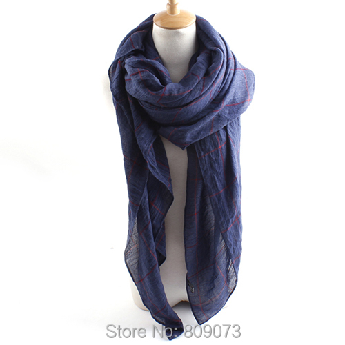 2015 Brand New Style Women's Long Larger Size Plaid Line Cotton Scarf Solid Color Scarves Shawl - Shenzhen Sundah Tech Co., Ltd.(Craft & Gift Dept. store)