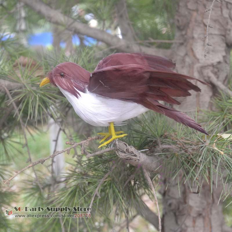 Aves moda trava simulação voador pena passarinho para o natal Bar de decoração para casa presentes fotografia props frete grátis(China (Mainland))