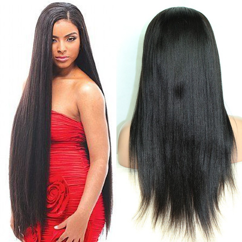 Peruvian Virgin Hair Straight 7A Unprocessed Virgin Peruvian Wigs Human Hair Straight Full Lace Wigs/Frontal Lace Wigs(China (Mainland))