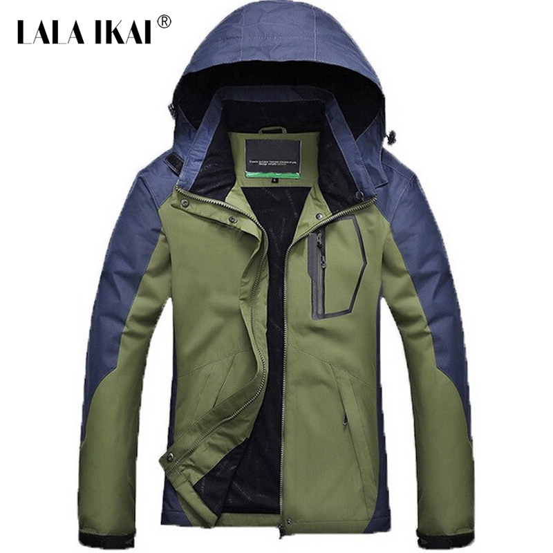 IKAI 2015 New Arrival ManS Hiking Climbing Jackets High Quality Waterproof Windstopper MenS Casual Coats Jacket HMA0057-5<br><br>Aliexpress