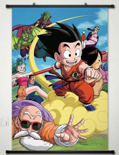 Home Decor Dragon Ball Son Goku Kakarotto Roshi Cosplay Wall Scroll Poster 029