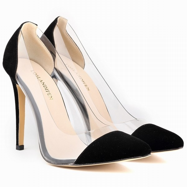 Womens Leather VELVET High Heels Corset Pointed Toe Party Pumps Ladies Wedding Shoes US Size 4-11 302-27VE