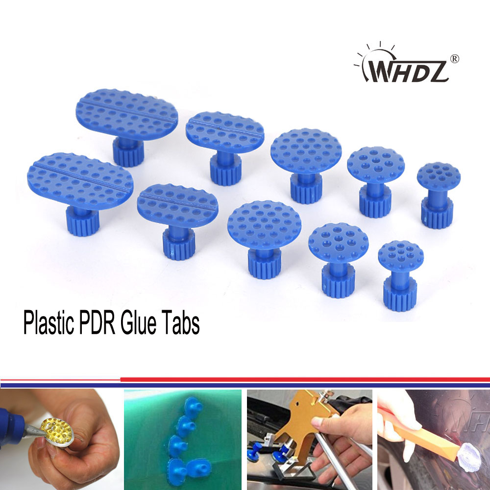 WHDZ PDR Tool 5 Size Plastic PDR Glue Tabs Professional PDR Dent Tabs Paintless Dent Removal Tabs Car Dent Repair Tools(China (Mainland))