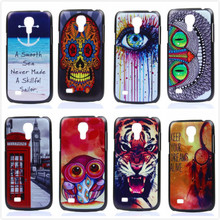 UltraThin Owl and Eye Pattern Matte Hard Back Case For Samsung Galaxy S4 Mini I9190 I9195 I9192 Cell Phone Protective Cover