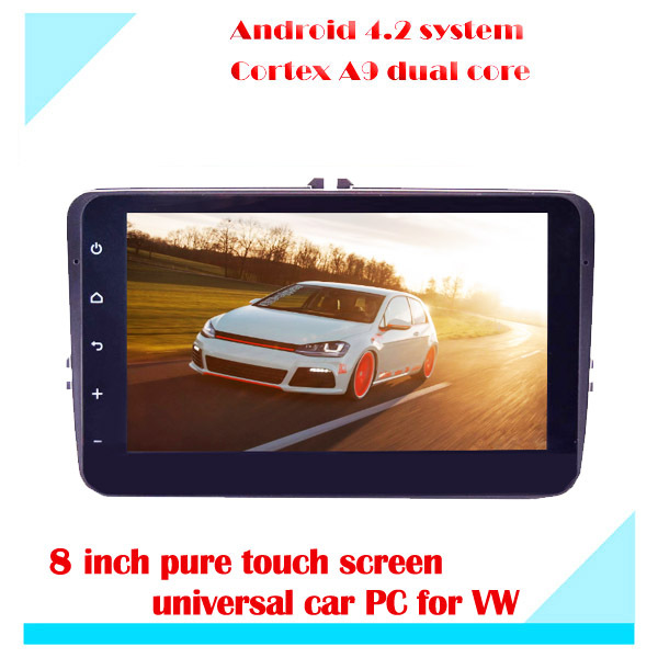 2 Din Pure Android 4.2 VW Car PC Player Radio Vehicle GPS Capacitive touch Screen Built-in WIFI RDS(China (Mainland))