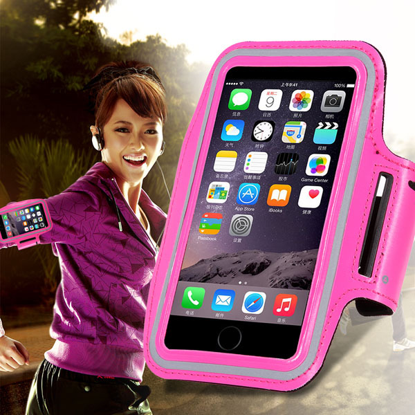 Waterproof Sport Armband Case for iphone 6 Plus 5.5inch Workout Accessories Pouch Smart Phong Bag With Belt Stand Function Cover