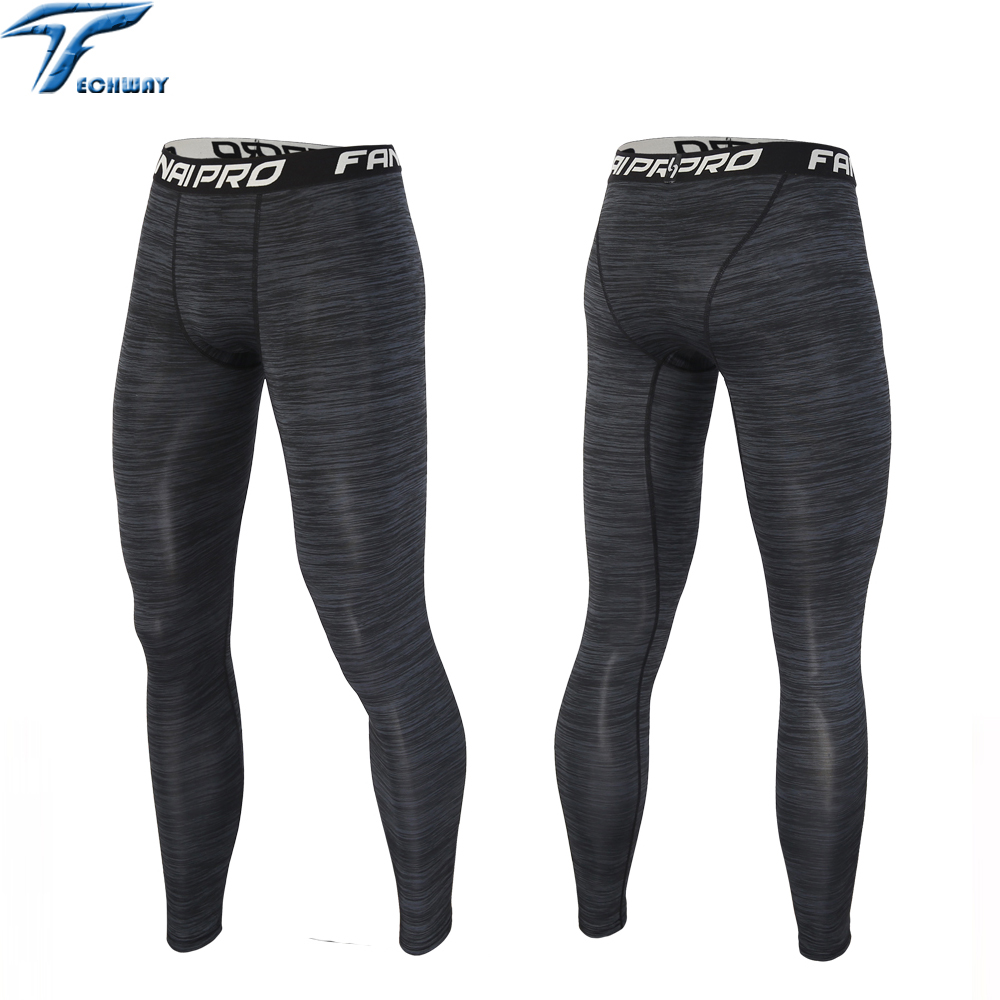 Running tights men compression yoga Basketball tights sports boys fitness leggins pants jogging football training tights running(China (Mainland))