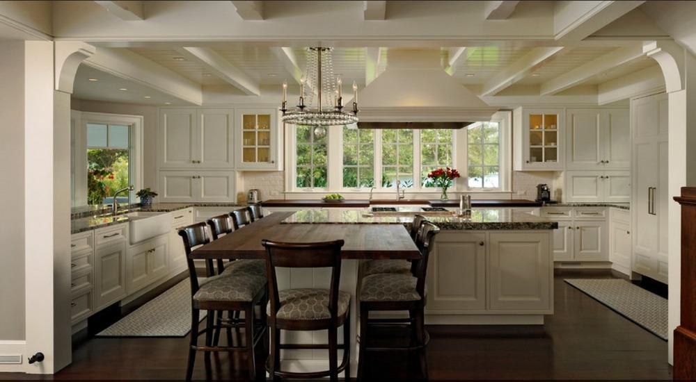 Free design customized pvc membrance kitchen cupboard - Cuisine pierre et bois ...