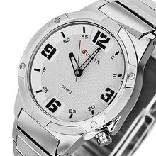 2015 new CURREN fashion men watch military watch sports men watch high quality big dial leather strap men quartz watch DZ1238