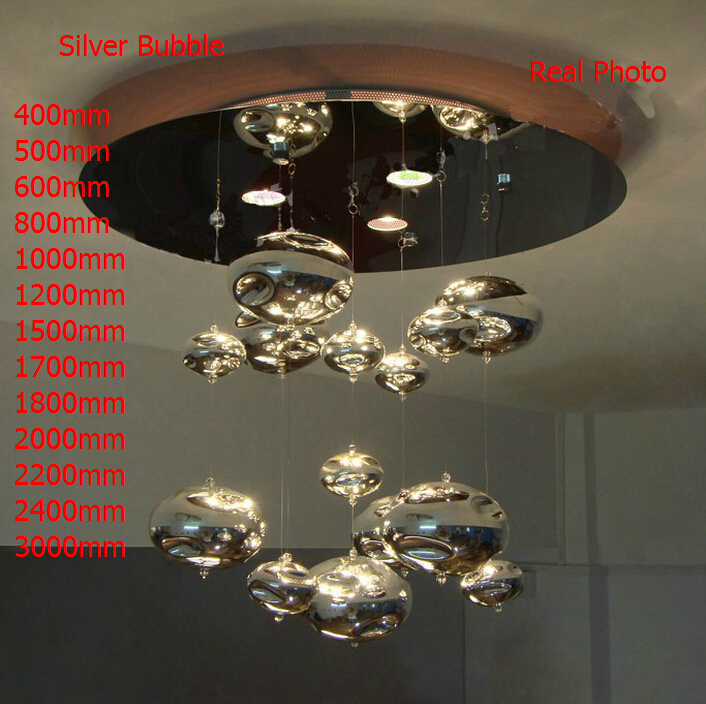 Height 120cm Murano Due Bubble Glass Ceiling Lamps Vintage Lampshade Decoration Bedroom Chandelier Restaurant Fixtures 110-220V(China (Mainland))