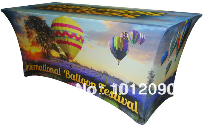 6ft Custom printed spandex table covers Logo tablecloth(China (Mainland))