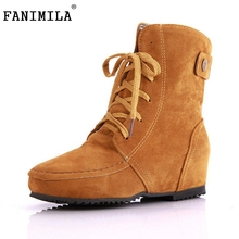 Buy Autumn Winter Boots Snow Boots Women Martin Boots Suede Leather Boots Couples Shoes Cotton footwear 34-43 for $22.87 in AliExpress store