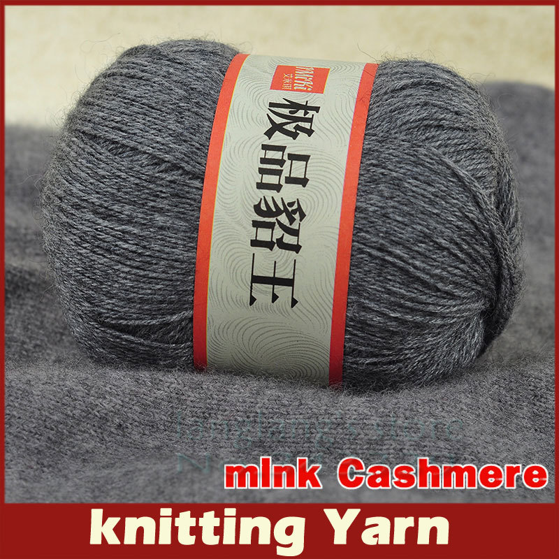 50g/pcs Brand High Quality Mink Yarn 24s/3 Thin Ferret Knitting Wool ...